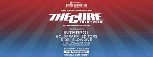 2 tickets to The Cure/Interpol/goldfrapp Hyde Park July 7th