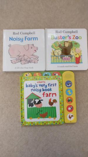3 x children's board books