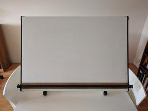 Artists! Illustrators! Architects! Quality drawing board - cable-weighted adjustable, for tabletop