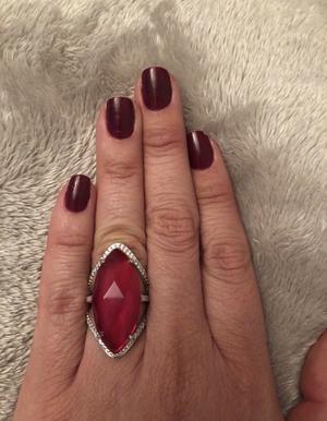 Brazilian ring. Semi precious. New.