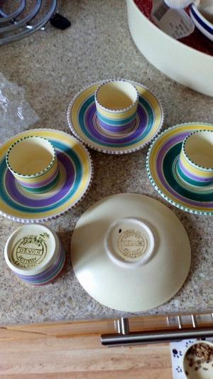 Crown devon egg cups