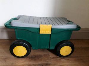 Garden Tool Cart And Seat