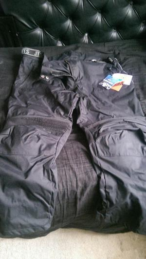 JTS Black and Grey Motorcycle Trousers - Brand New With Tags.