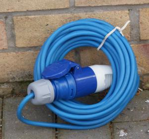 NEW 10 METRE 16 AMP ELECTRIC HOOK UP CABLE BARGAIN ONLY £10