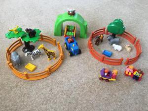 Playmobil farm and zoo
