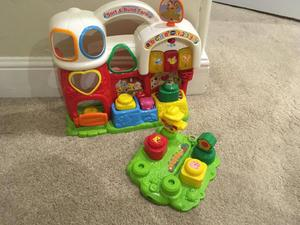 Sort and build farm toddler toy