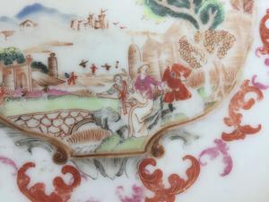 A beautiful Chinese famille rose plate decorated in the