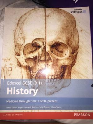 GCSE History, medicine through time, revision book