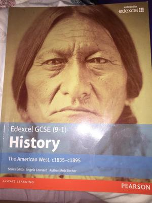 GCSE history, the American west, revision book