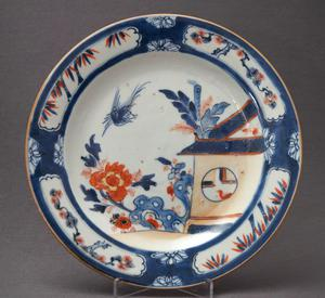 "Imari plate with a ""Cuckoo in the house"" decoration - China"