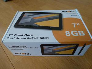"MIKONA 7"" QUAD CORE TOUCH SCREEN ANDROID TABLET--NEW"