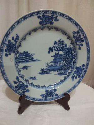 Porcelain plate in good condition with Christie's