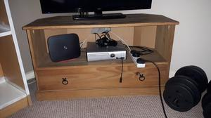 Rustic Wooden TV Stand for sale. £10.