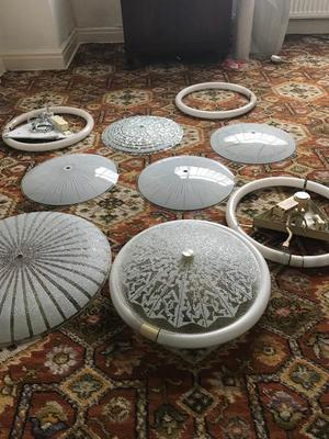 Selection of Vintage /Retro light shades fittings