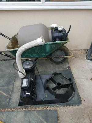 Swimming pool pump and Sand filter