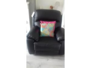 Black leather reclining armchair - as new never used in