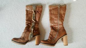 Kurt Geiger tan leather knee high boots