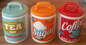 Lovely Retro Ceramic Tea, Sugar & Coffee Set