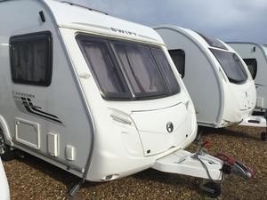 Swift Charisma 220 with motor mover, awning and solar panel