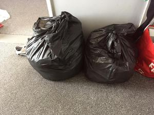 2 bin bags of clothes