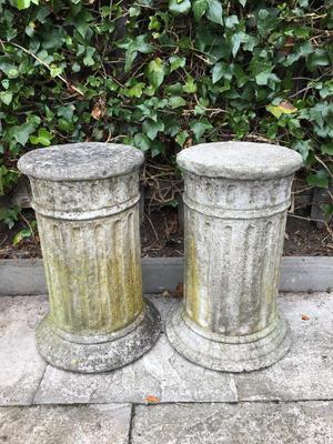Beautiful pair of stone columns garden ornament