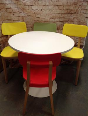 Over2Hills Colourful Retro Table & Chair Set