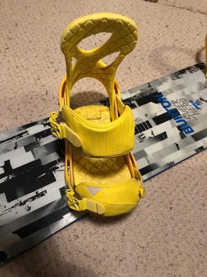 Burton Stiletto yellow womans snowboard bindings size L (UK6+)