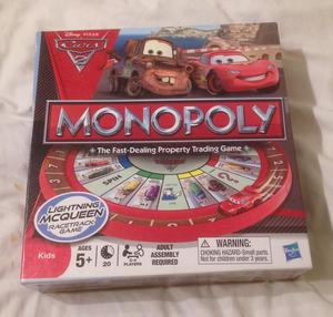 DISNEY PIXAR CARS 2 MONOPOLY. BOARD GAME . VERY GOOD CONDITION.