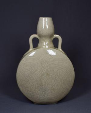 Faux Song Celadon moon bottle - China - second half of 20th