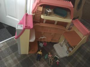 Fisher price folding dolls house