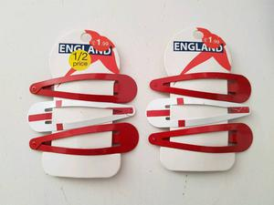 England World Cup goodies 2 car window flags, 4 wrist bands, 2 necklaces and 6 hair clips