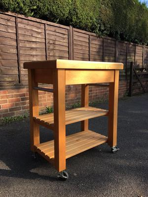 Solid Wood Kitchen Trolley Posot Class