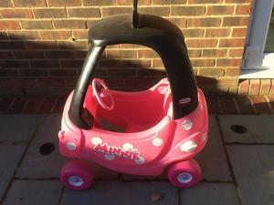 Minnie little tikes car