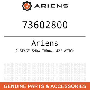 "OEM Ariens Gravely 2-STAGE SNOW THROW- 42""-ATTCH"