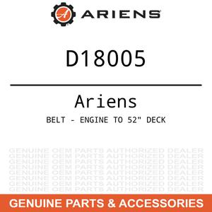 "OEM Ariens Gravely BELT - ENGINE TO 52"" DECK D"