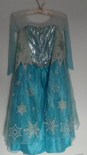Original Disney store Elsa dressing up dress 7-8yrs & tiara
