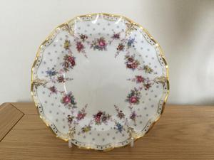 Royal crown derby china Antoinette fluted edge plate