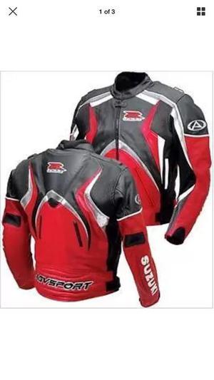 SUZUKI GSXR motorcycle Leather Racing Jacket (BRAND NEW)