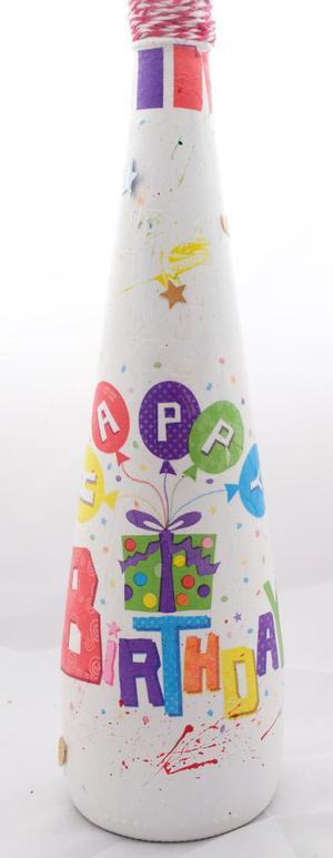 Unique Happy Birthday Table Display Vase