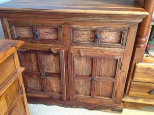 Beautiful Solid teak wood cabinet for sale, £190 in good condition.