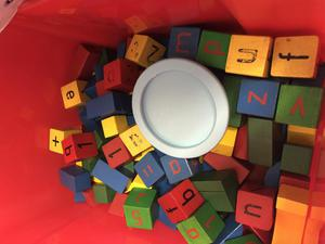 Big box of baby building blocks