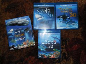 Blu Ray 3D Box Set Sharks, Dolphins, Whales