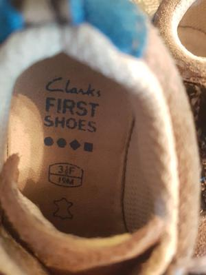 Clarks first shoes size 3.5F infant