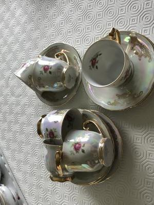 Cups and saucers miniature plus plates