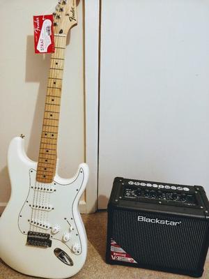 Fender Standard Stratocaster+ Blackstar V2 Amp Virtually Brand New