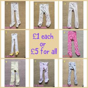 Girls tights £1 each or £5 for all