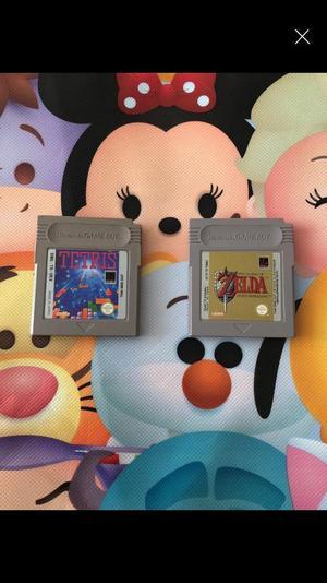 Nintendo Gameboy Tetris And The Legend Of Zelda Link's Awakening
