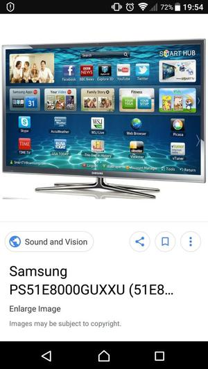 "Samsung 3d 51"" smart tv PS51D"