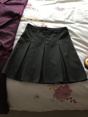 School grey skirt