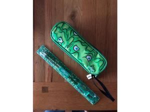Smuggle pencil case and pencil ruler, sharpener set in